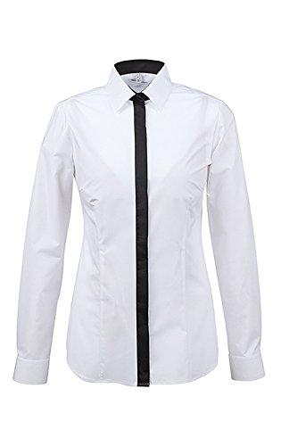Greiff Negro Camisas Manga blanco Larga Para Clásico Mujer rrRwpY