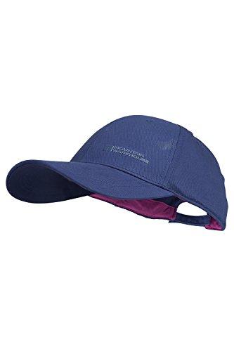 [Mountain Warehouse Cotton Velcro Adjustable Baseball Cap Navy] (Pork Pie Hat For Sale)