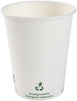 BIOZOYG Vaso de café Cartón I Vajilla compostable y Biodegradable ...