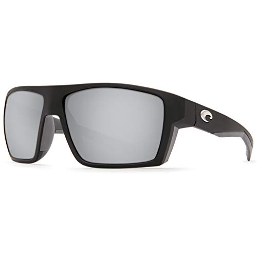 Costa Del Mar Costa Del Mar BLK124OSGGLP Bloke Gray Silver Mirror 580G Matte Black + Matte Gray Frame Bloke, Matte Black + Matte Gray Frame, Gray Silver Mirror 580G (Gray Silver Sunglasses Mirror)