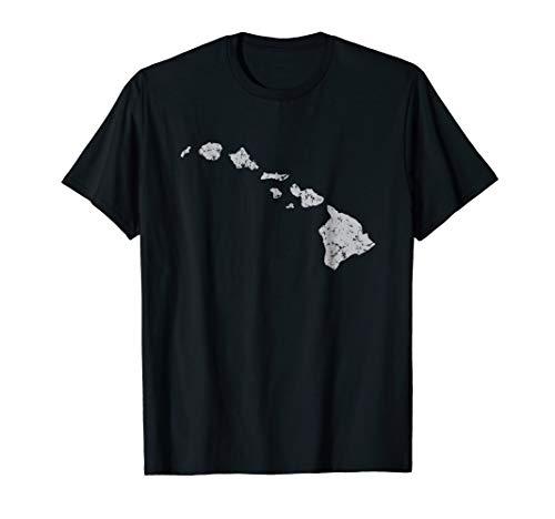 Hawaiian Island Chain Retro Graphic T-shirt
