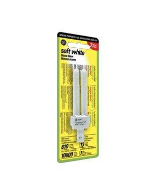 Ge Cfl Dbl Biax 2 Pin Plug Bulb 4.7 In. 100 W Equiv, 13 W 810 Lumens 2700 K 82 Cri Esr -