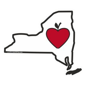 Heart in New York Sticker Vinyl Decal Label Stickers, Die-Cut Shape for Water Bottle Laptop Luggage Bike Laptop Car Bumper Helmet Waterproof Show Love Pride Local Spirit. I Heart NY Big Apple NYC