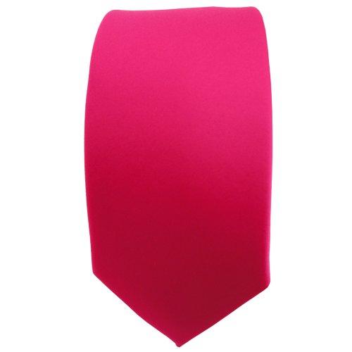 étroit TigerTie Designer cravate en pink knallpink couleurs néon unicolor - Tie