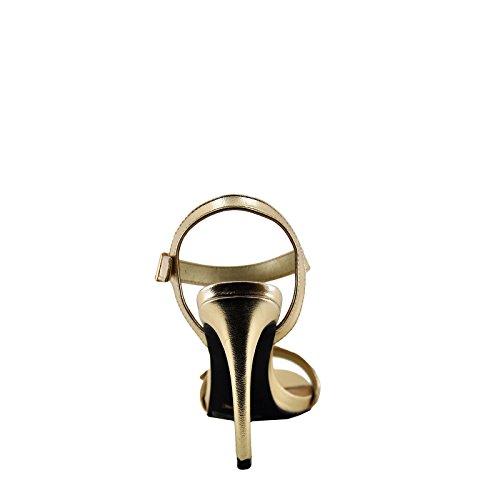 Anne Michelle Truelove 96M Womens Gold Buckle Accent Heel Gold TuF1xFUIJ