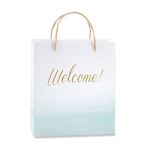 Kate Aspen Beach Tides Welcome Bag, Party Favors, Paper Gift Bags (Set of 12)