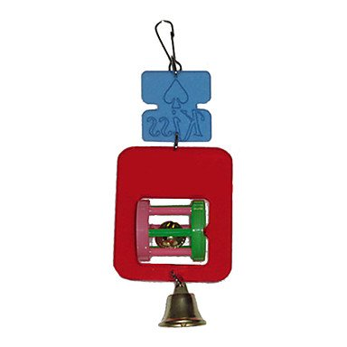 Quick shopping Acrylic Hanging Toys with Wheel Bell for Bird (22 x 8cm)