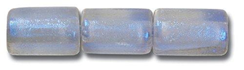 Paula Radke Purple Clear Dichroic 7x8 Tube - Tube Glass Dichroic Clear