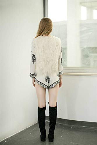 Beige Battercake Chalecos Mujeres Chaqueta Suave Fashion Polares Mujer De Casuales Sleeveless Primavera Outerwear Chaleco Elegante Cómodo Sintética Piel Otoño Abrigos HSwSdqnrB