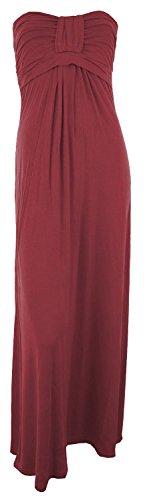 Pickle Bandeau Boob New Knot Maxi Dress Wine ® Womens Chocolate qwdAvIw