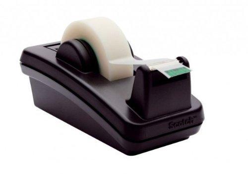Scotch Designer Desk Tape Dispenser C-4210, Black -