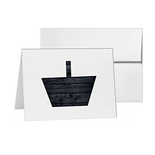 Basket Online Purchase Purchasing Shop Bag Bags, Blank Card Invitation Pack, 15 cards at 4x6, Blank with White Envelopes Style 7211
