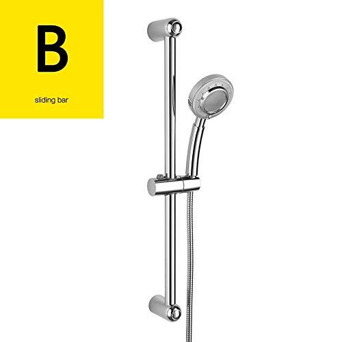 Pipe Bijia Plastic Chrome Shower Sliding Bar Adjustable Sliding Bar with Soap Dish for Bathroom Washroom PSLS3001F - Soap Riser Mount Dish