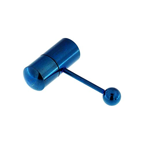 ed Vibrating 316L Surgical Steel 14 Gauge Tongue Barbell Piercing Ring (Vibrating Tongue Barbells)