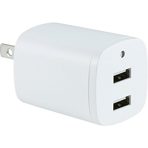 Ge Dual Telephone (GE 94335 2.1-Amp Dual-Port USB Wall Charger with Folding Prongs (White) - NINETY DAY LIMITED)