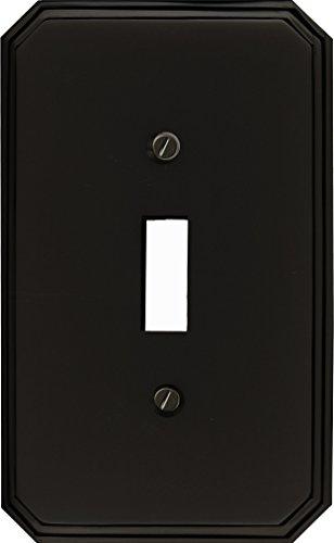 Runwireless Italia, Solid Brass W/Black Onyx Finish Switch plate, Wall plate, Cover, Toggle - Onyx Toggle