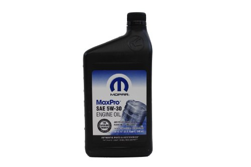 Genuine chrysler accessories 4761838mb sae 5w 30 mopar for Top 1 motor oil review