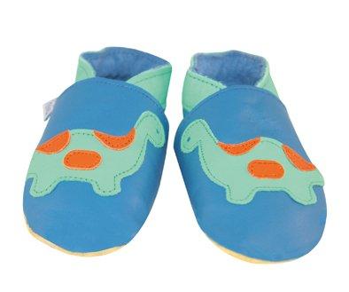 Daisy Roots Chaussures pour bébé en cuir souple Dino (Taille 0–6mois)