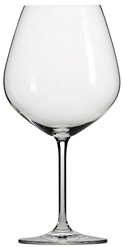 jiao he Tritan Crystal Glass Forte Stemware Collection Claret Burgundy Red Wine Glass, 25-Ounce, Set of 6