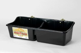 Little Giant 24-Inch Dura-Flex Hook Over Portable Feeder with Divider and Brackets, 16-Quart, Black