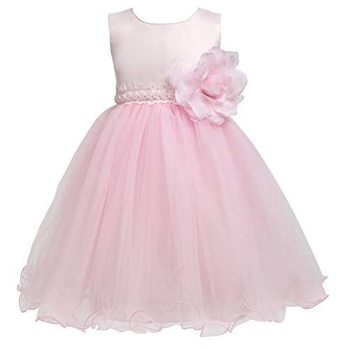 (Merry Day Flower Baby Girl Petals Dress Toddler Tulle Wedding Pageant Party Dresses Pink 5-6 Years)