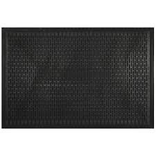 Mohawk Home Utility Bay Black Rectangular Door mat