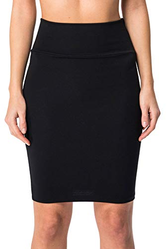 - KIKI RIKI Women's Stretch Bodycon Mini Pencil Skirt (Black, Small)