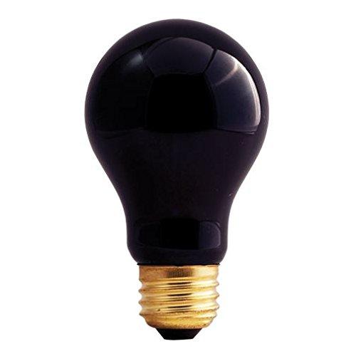 (6 Pack) Bulbrite 75A/BL 75W Black Light A Shape Bulb