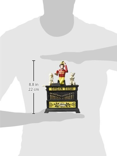 Design Toscano Organ Grinder's Performing Monkey Authentic Foundry Iron Mechanical Bank by Design Toscano (Image #2)