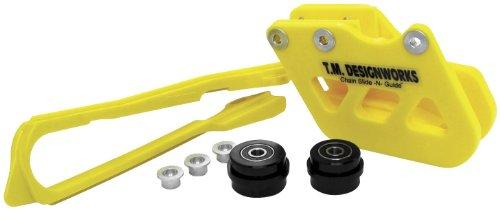 Chain Front Slider (T.M. Designworks Dirt Cross Super Front Chain Slider - Yellow DCS-S20-YL)