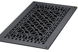 """12 X 24 Cast Iron Vent Cover (Air Return) Without Screw Holes Outside Measurement: 26½"""" X 14½"""""""