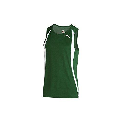 PUMA 509295 Mens TB Running Race Singlet, Evergreen - S