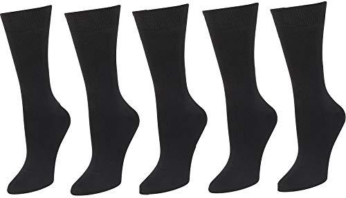 Men's Super Soft Dress Crew Sock #107 5PK Black Solid Size 10-13 (Socks Black Soft)