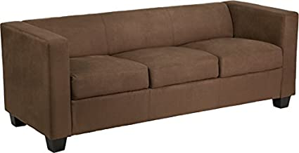Flash Furniture Prestige Series Fedexable Microfiber Sofa, Chocolate Brown