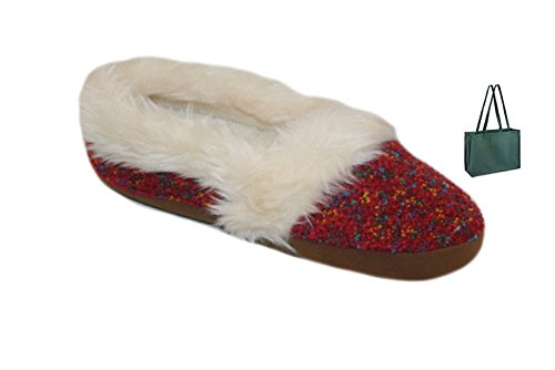 Bag and Womens' dearfoams Red Knit Confetti Espadrille Slipper Gift wBw0qxPC