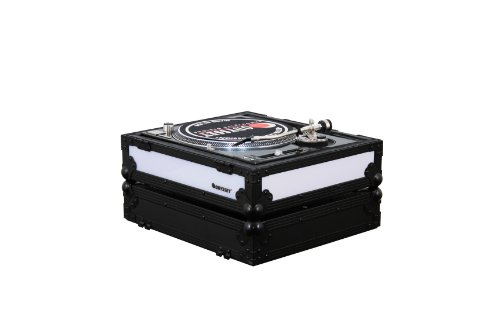 Odyssey FFX2RBM1200BL Flight Fx2 Series Battle Position Technics 1200 Style Turntable Case with Front and Right Side LED Panel