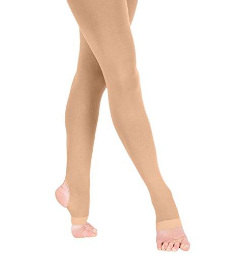 Grandeur Hosiery Girls' Kids Children's Ultra Soft Stirrup Dance Ballet Tights Suntan 8-10 (Child Tights)