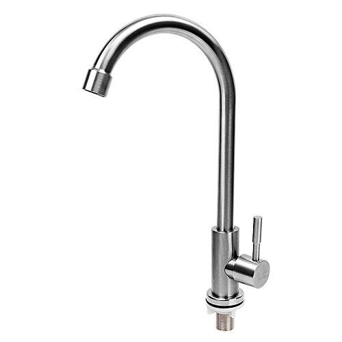 MEIBATH Waschtischarmatur Badezimmer Waschbecken Wasserhahn Küchenarmaturen Kaltes Wasser aus rostfreiem Stahl 304 Küchen Wasserhahn Badarmatur