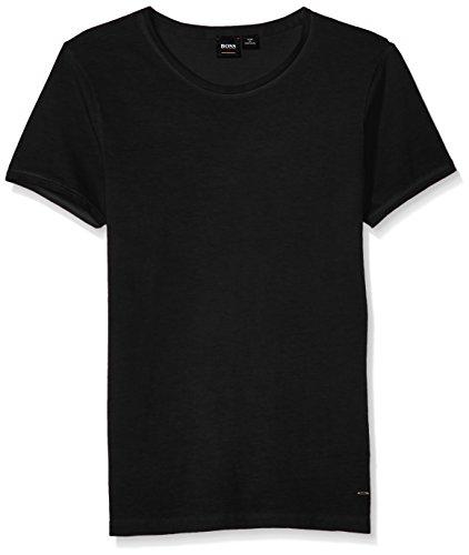 BOSS Orange Men's Troy Crew Neck Short Sleeve Solid T-Shirt, Black, Extra - Boss T-shirt Crew