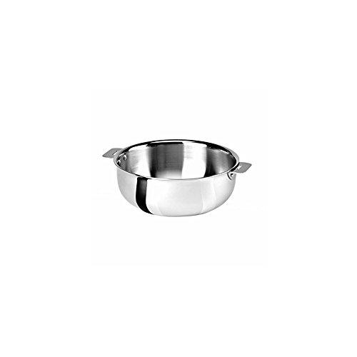 Cristel SR22QMP Saucier, Silver, 3 quart with Cristel Mutine Pman Handle, Long, Black by