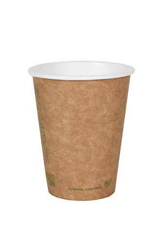 World Centric's 100% Biodegradable, 100% Compostable Paper PLA-Lined 8 Ounce Coffee Hot Cup in KRAFT (Package of 200)