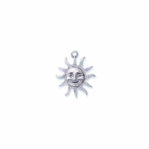 Shipwreck Beads PW74-S Pewter Sun Pendant with Face, Metallic, Silver, 26mm, 3-Piece (Face Pewter Pendant)