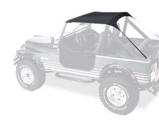 Bestop 52508-01 Black Crush Traditional Bikini Top for 1976-1991 CJ-7, CJ-8 Scrambler and Wrangler