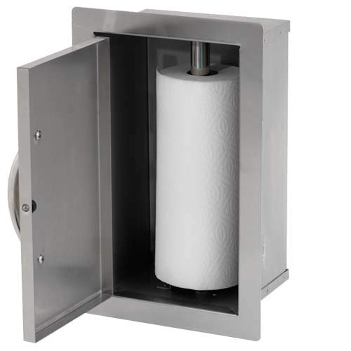 Cal Flame 089245002628 Paper Towel Storage Door Add On, Stainless Steel