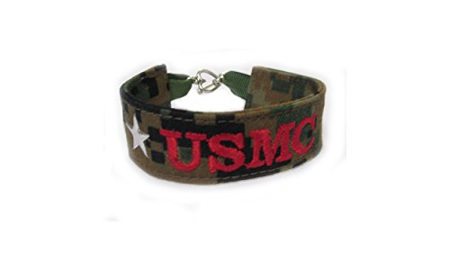 U.S. Marines Name Tape Military Bracelet, Marine Corps Camo Bracelet, USMC Jewelry, U.S. Marines Gifts (Marpat Coat)