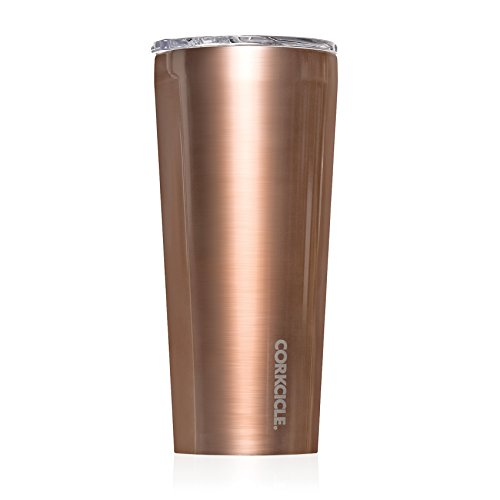 Corkcicle Tumbler - Classic Collection - Triple Insulated Stainless Steel Travel Mug, New Electroplate Copper, 24 oz