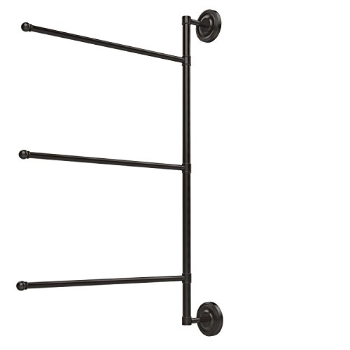 Allied Bronze Oil Rubbed Towel Bar - Allied Brass PR-27/3/16/28-ORB Prestige Regal Collection 3 Swing Arm Vertical 28 Inch Towel Bar, 28