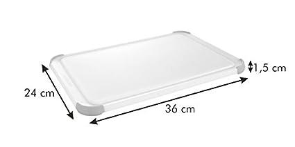 Tescoma 378926 Tagliere Plastica Bianco//Verde 26x16 cm
