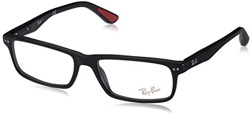 Ray-Ban Men's 0RX5277 54mm Sandblasted Black Reading - Plastic Are Lenses Or Ban Ray Glass