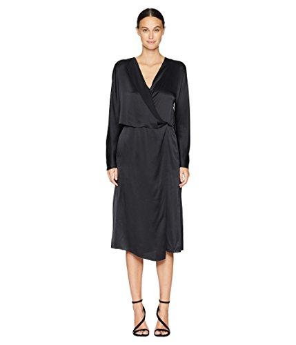Vince Women's Drape Panel Dress Black ()